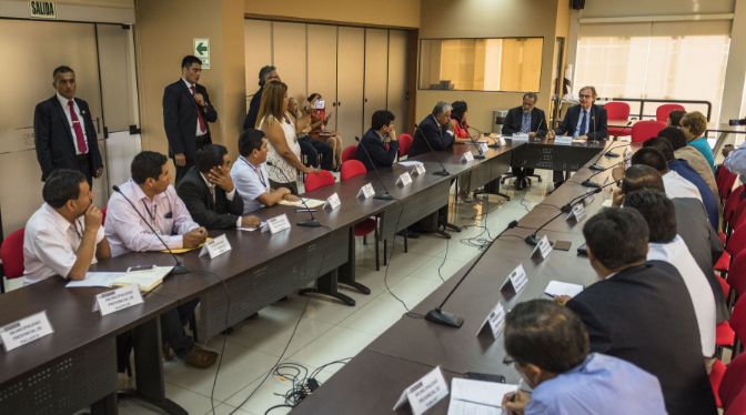 Congresistas y alcaldes de ncash se reunieron con for Agenda ministro interior